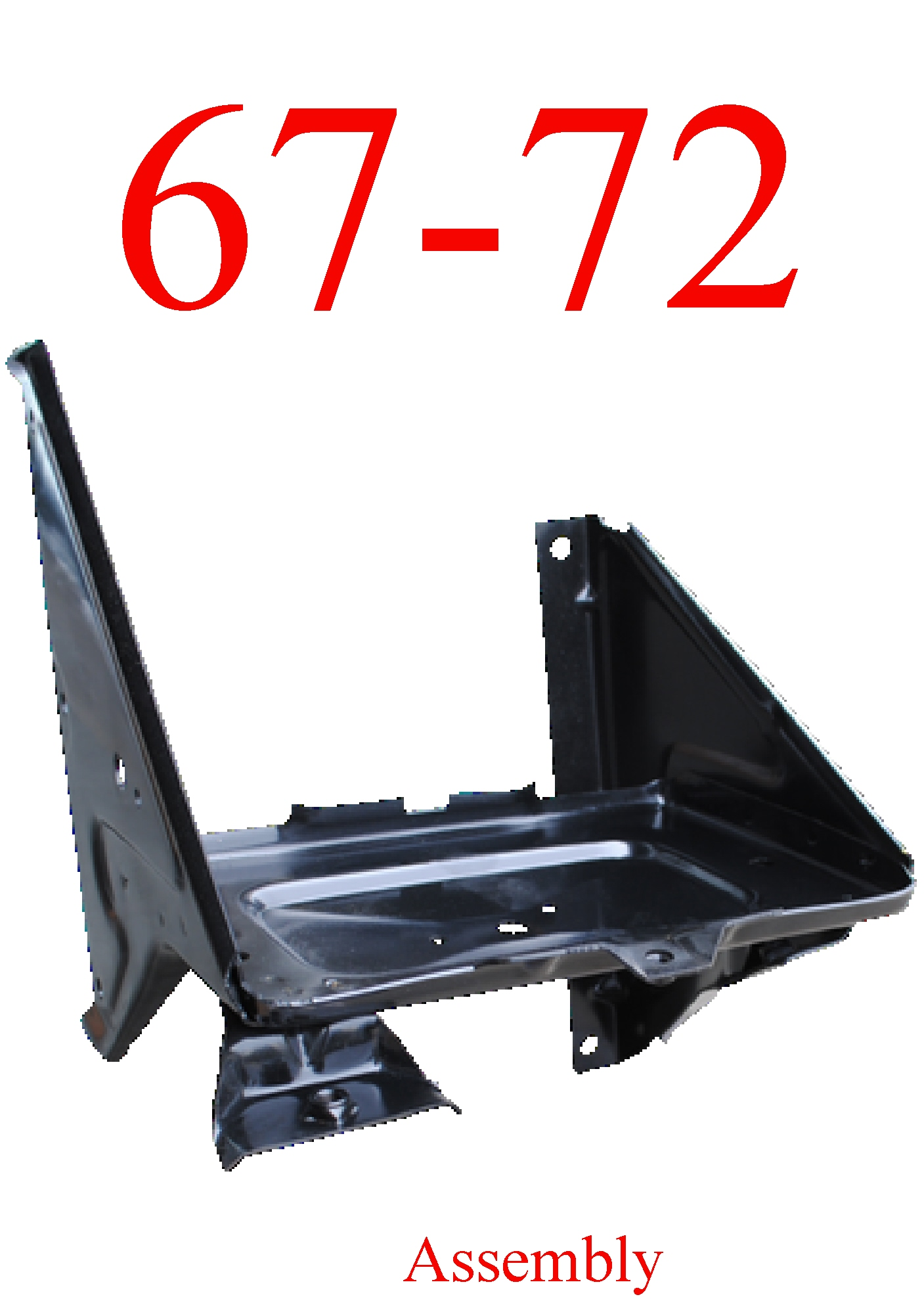 67-72 Chevy Battery Tray Assembly With AC